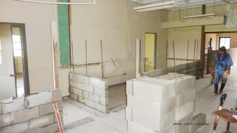 Inicios de la construcción de la Academia CISCO en UTP Colón.