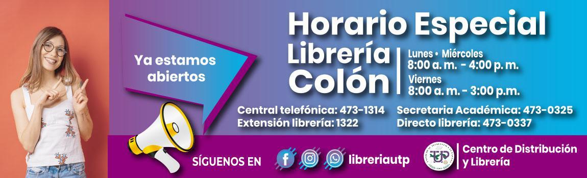 Horario Especial de la Librería en el Centro Reginal de Colón
